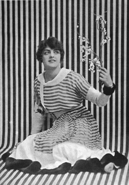 Striped frock, 1916