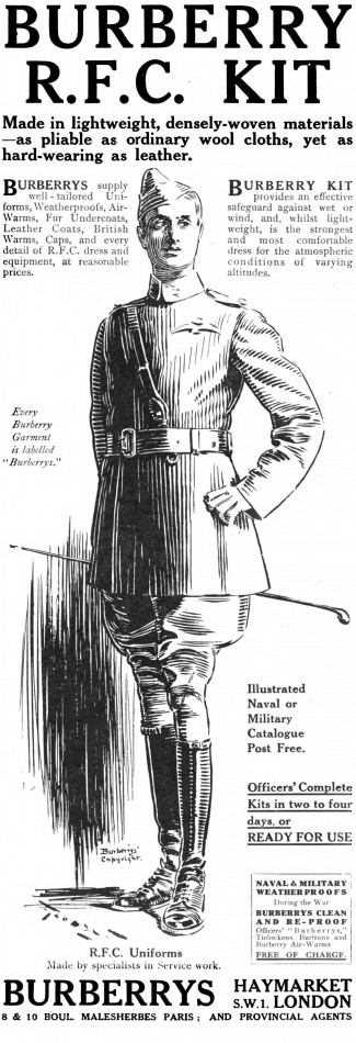 RFC Burberry ad, 1917