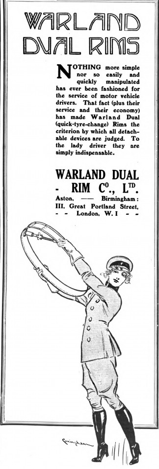 Wheel Rims ad, 1917