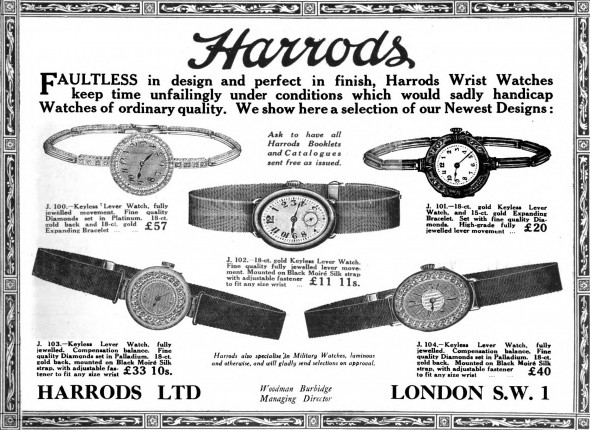 Watches from Harrods