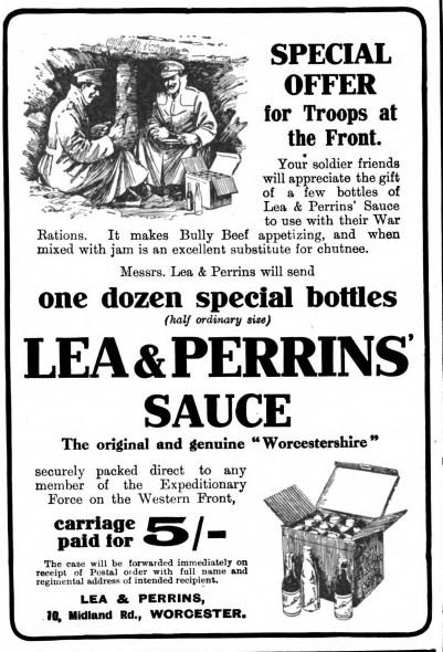 Lea & Perrins' Sauce, 1917