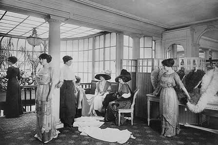 Salon de Vent at Paquin, 1910