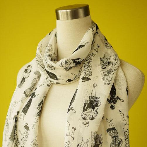 Flapper scarf