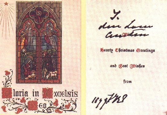 Queen Victoria Christmas card
