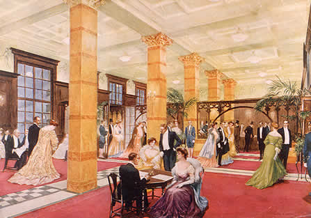 The Savoy Hotel lobby