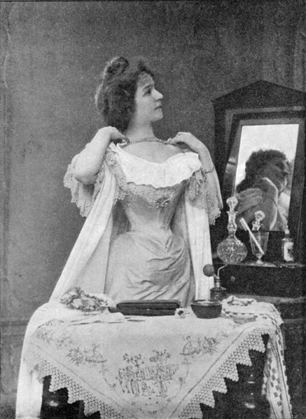 The Parisian woman at her toilet