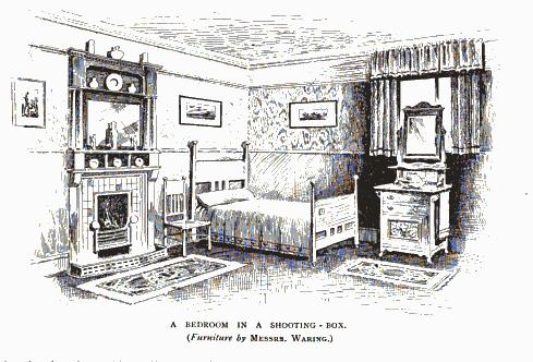 Bedroom in a shooting-box
