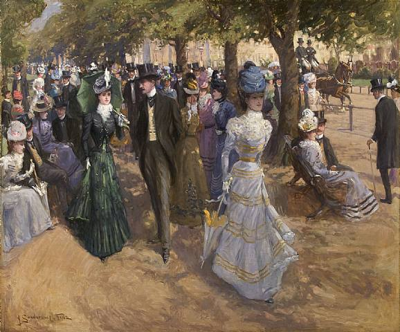 Church Parade, Hyde Park by John Sanderson Wells, 1899