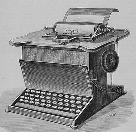 1877 typewriter