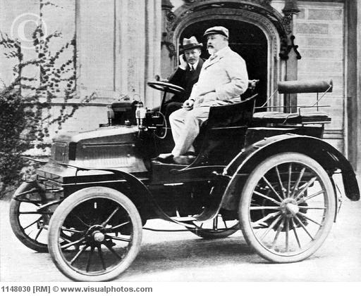 King Edward VII in Lord Montagu's Daimler 12hp, 1900
