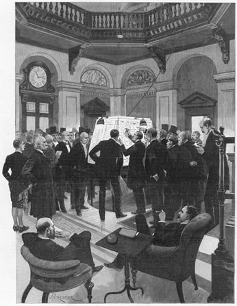 Election Results at the Carlton Club, London, 1892