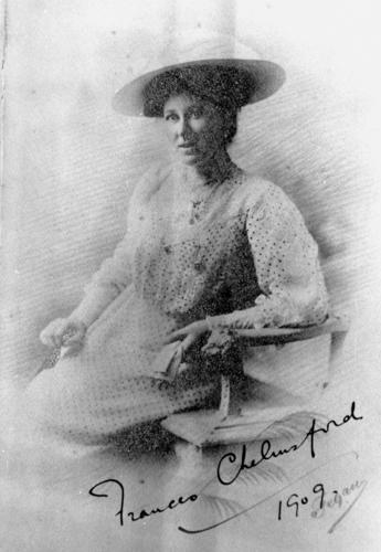 Frances Chelmsford wife of the Queensland Governor Lord Chelmsford