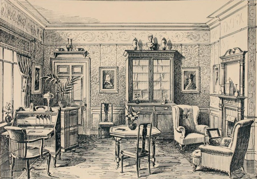 Interior Design Edwardian Promenade : Library Suite from www.edwardianpromenade.com size 895 x 624 jpeg 293kB