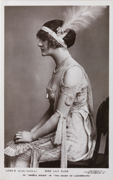 "Postcard of Lily Elsie as ""Angèle Didier"" in The Count of Luxembourg"