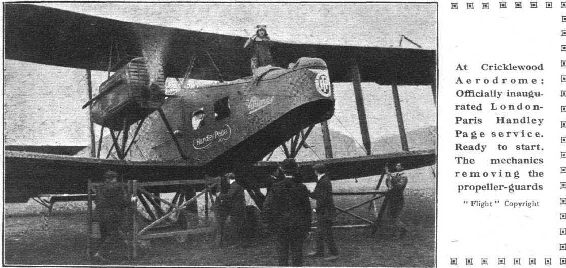 London-Paris Handley Page service