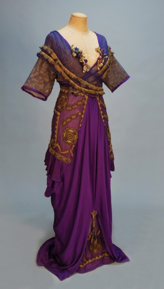 Bright purple evening gown from Lucile's Winter 1911 collection.