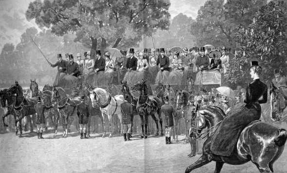 Meet of Coaching Club in Hyde Park, 1892