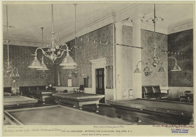 Metropolitan Club, billiards room