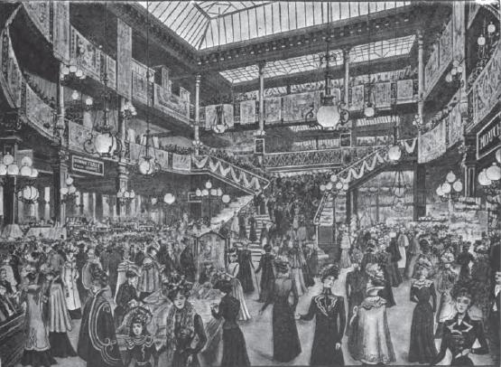 One of the large halls at the Bon Marche