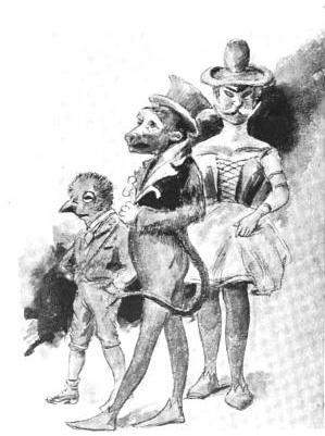 street maskers, 1900s mardi gras