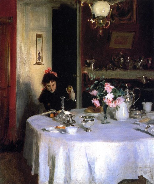 The Breakfast Table 1883 John Singer Sargent