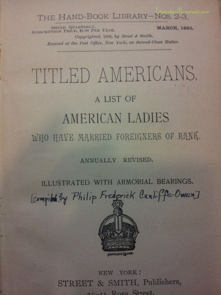 Titled Americans, 1890
