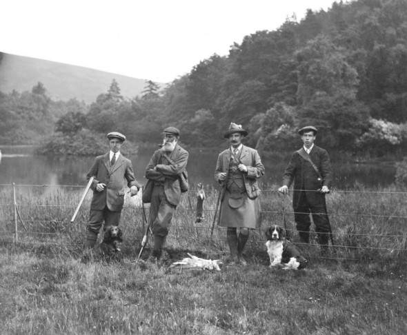 View of a hunting party on The Glen estate