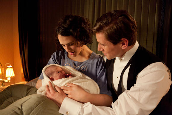 Sybil, Tom, and their baby