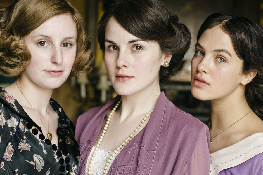 Mary, Edith, and Sybil Crawley