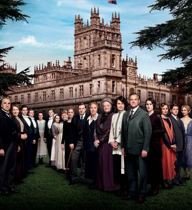 Downton Abbey series 4 cast photo