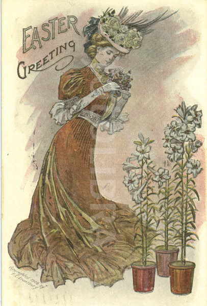 Edwardian Easter card 1906