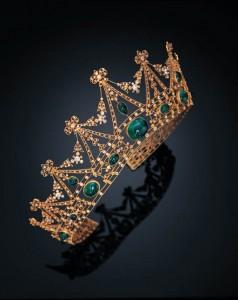 emerald and diamond tiffany tiara