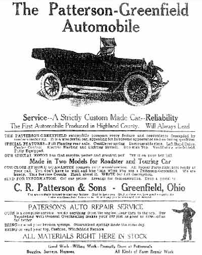 1918 Patterson-Greenfield ad