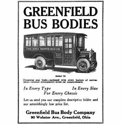 1923 Greenfield Bus ad