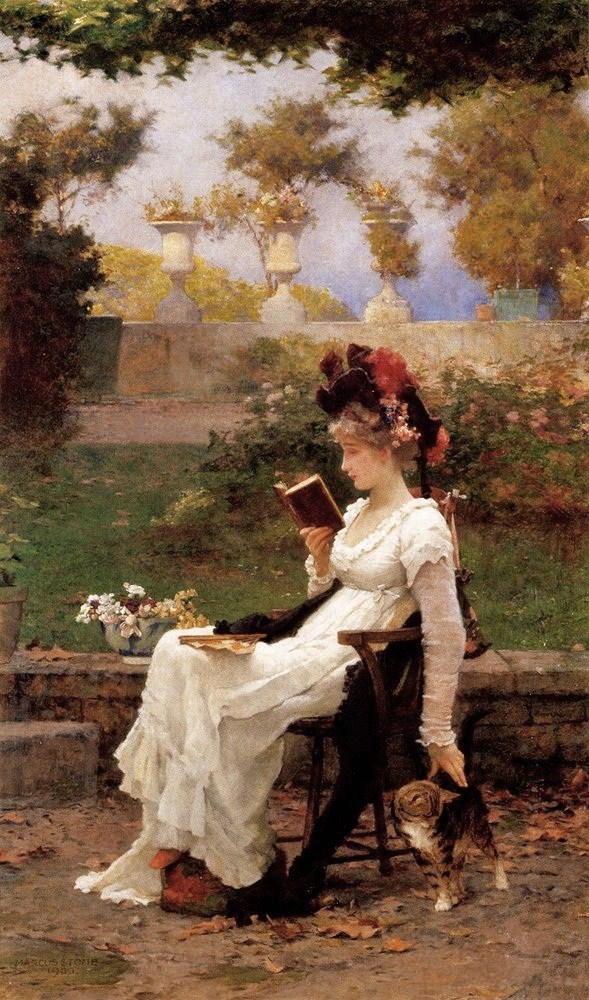 reading a book