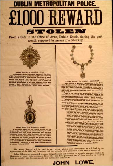 Reward for Irish Crown Jewels