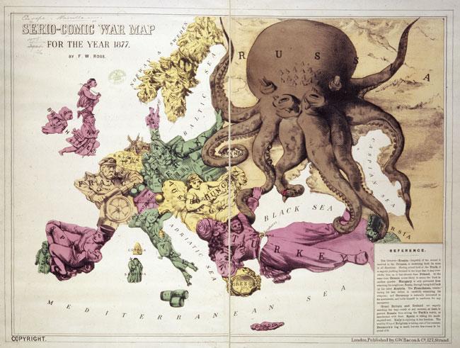 serio-comic map of europe, 1877