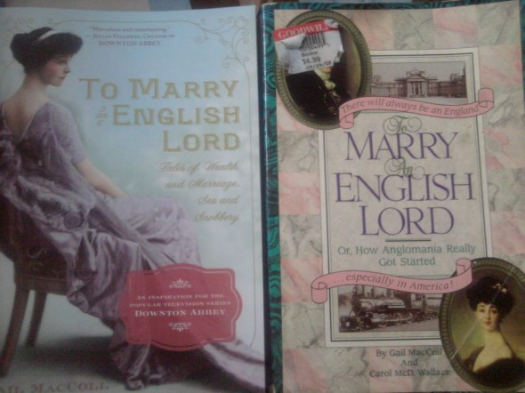 to marry an english lord, new cover and old cover