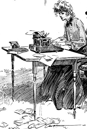 Typist by Charles Dana Gibson