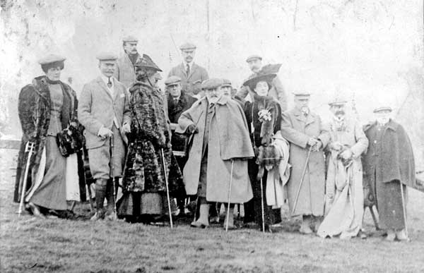 Shooting party including King Edward VII and Queen Alexandra